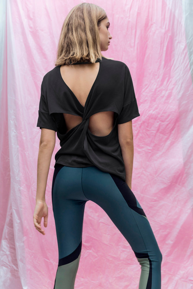 T-shirt cross back black