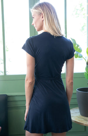 Acacia Dress - navy blue
