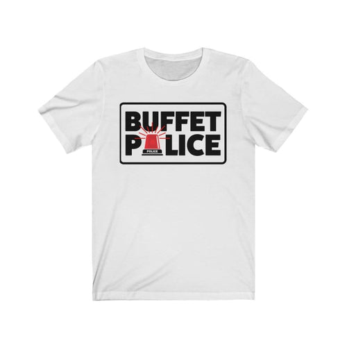 Buffet Police Red SirenUnisex Jersey Short Sleeve Tee - White / L - T-Shirt