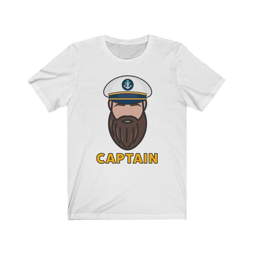 Cruise Crew CaptainUnisex Jersey Short Sleeve Tee - White / L - T-Shirt