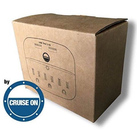 Cruise Power Strip with USB Outlets - Non Surge Protection & Ship Approved | Travel Accessories and Must Haves by Cruise On