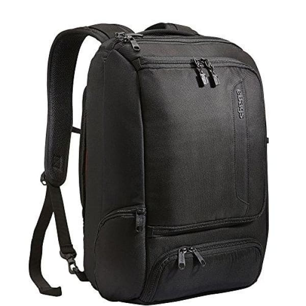 eBags Professional Slim Laptop Backpack-Anti-Theft-(Solid Black)
