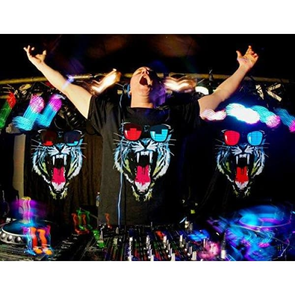 LED T Shirt Sound Activated Glow Shirts Light up Equalizer Clothes for Party