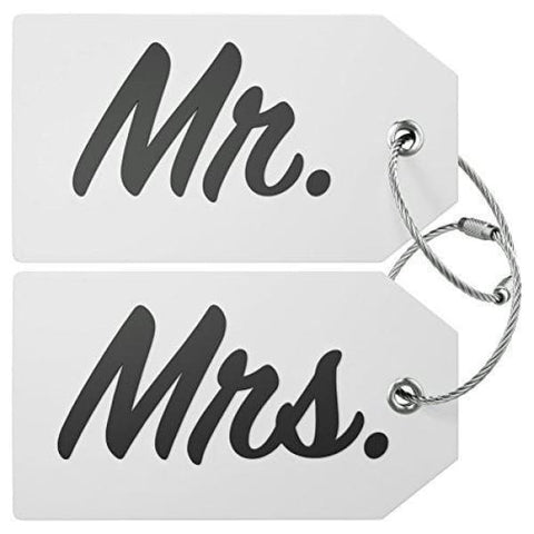Mr & Mrs Luggage Tag (White)