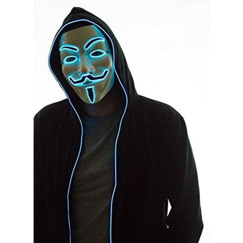 Neon Nightlife Light Up Hoodie, X-Small, Blue