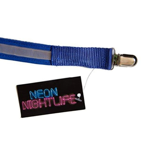 Neon Nightlife Men's Light Up LED Suspenders, One Size, Blue