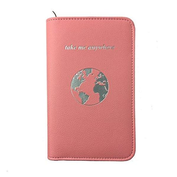 Phone Charging Passport Holder -10 Variations- RFID Blocking -Compatible with All Phones- Great Stocking Stuffer and Gift Idea (Blush)