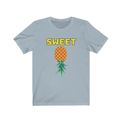 Sweet Upside Down Pineapple, Why Not ;)–Unisex Jersey Short Sleeve Tee