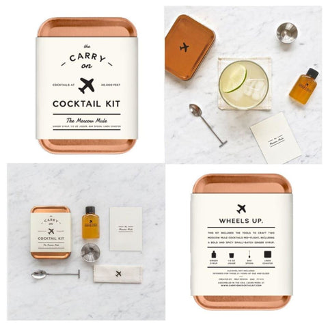 The Carry on Cocktail Kit Old Fashioned, Moscow Mule, Gin and Tonic-3 PACK