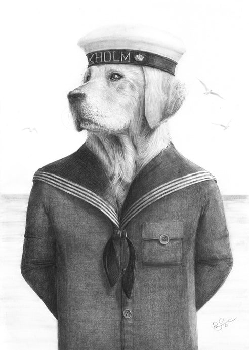 Sailor Golden - orignal drawing
