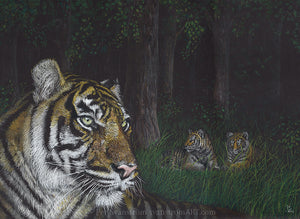 Mother in stripes - Original drawing - 2020