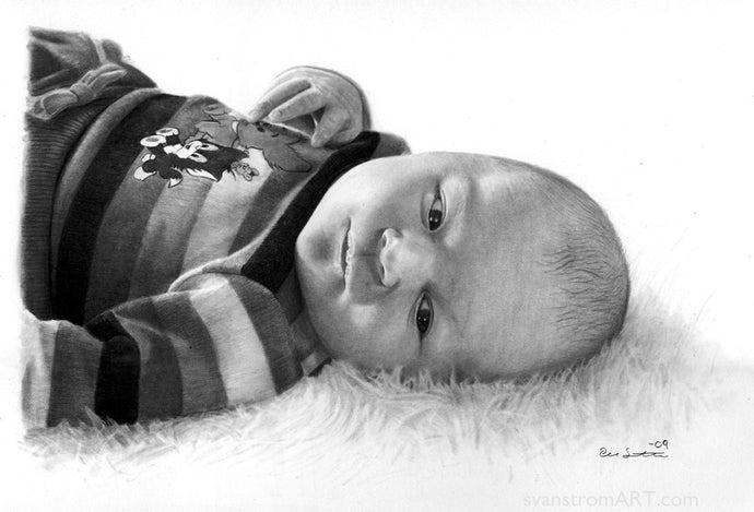 Commission - Baby portrait - Wiktoria - 2009