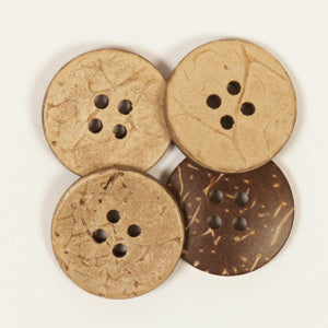 Round Coconut Button - 20mm