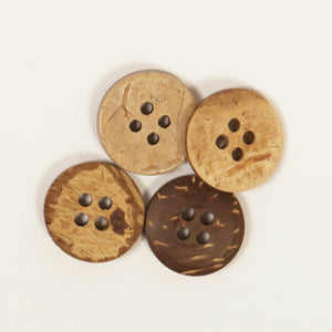 Round Coconut Button - 15mm