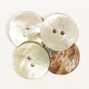 Drops Arched White Mother of Pearl Button - 20mm