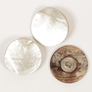 White Loop Mother of Pearl Button - 20mm