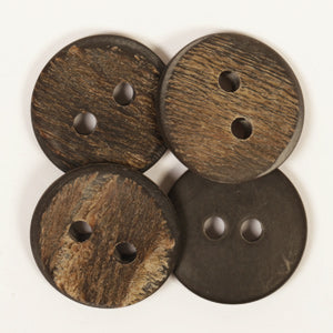 Round Buffalo Horn Button - 25mm