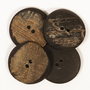 Angular Buffalo Horn Button - 25mm