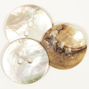 Drops Arched White Mother of Pearl Button - 34mm