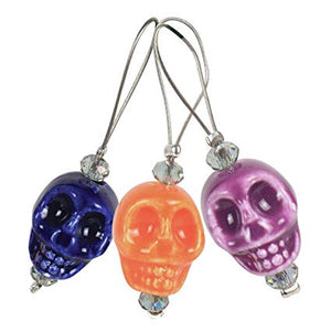 Knit Pro Zooni Bead Stitch Markers - Skull Candy Set of 12