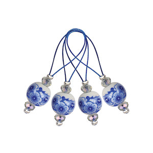 Knit Pro Zooni Bead Stitch Markers - Blooming Blue Set of 12