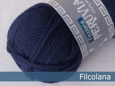 Filcolana Peruvian Highland Wool - Navy Blue - 145