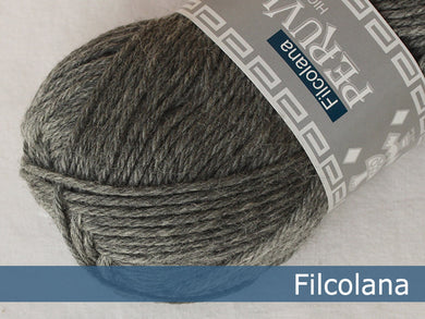 Filcolana Peruvian Highland Wool - Medium Grey (melange) - 955