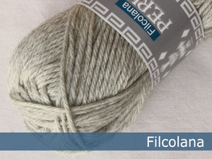 Filcolana Peruvian Highland Wool Hanks - Very Light Grey (melange) - 957