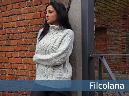 Frigg Big Soft Cable Sweater Pattern