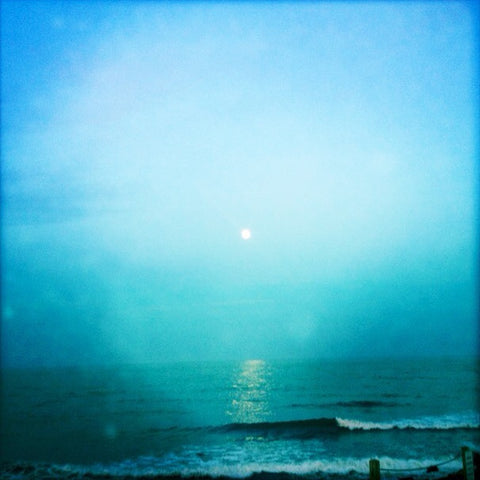 Moonshine - Full Moon Over the Ocean at Point Judith