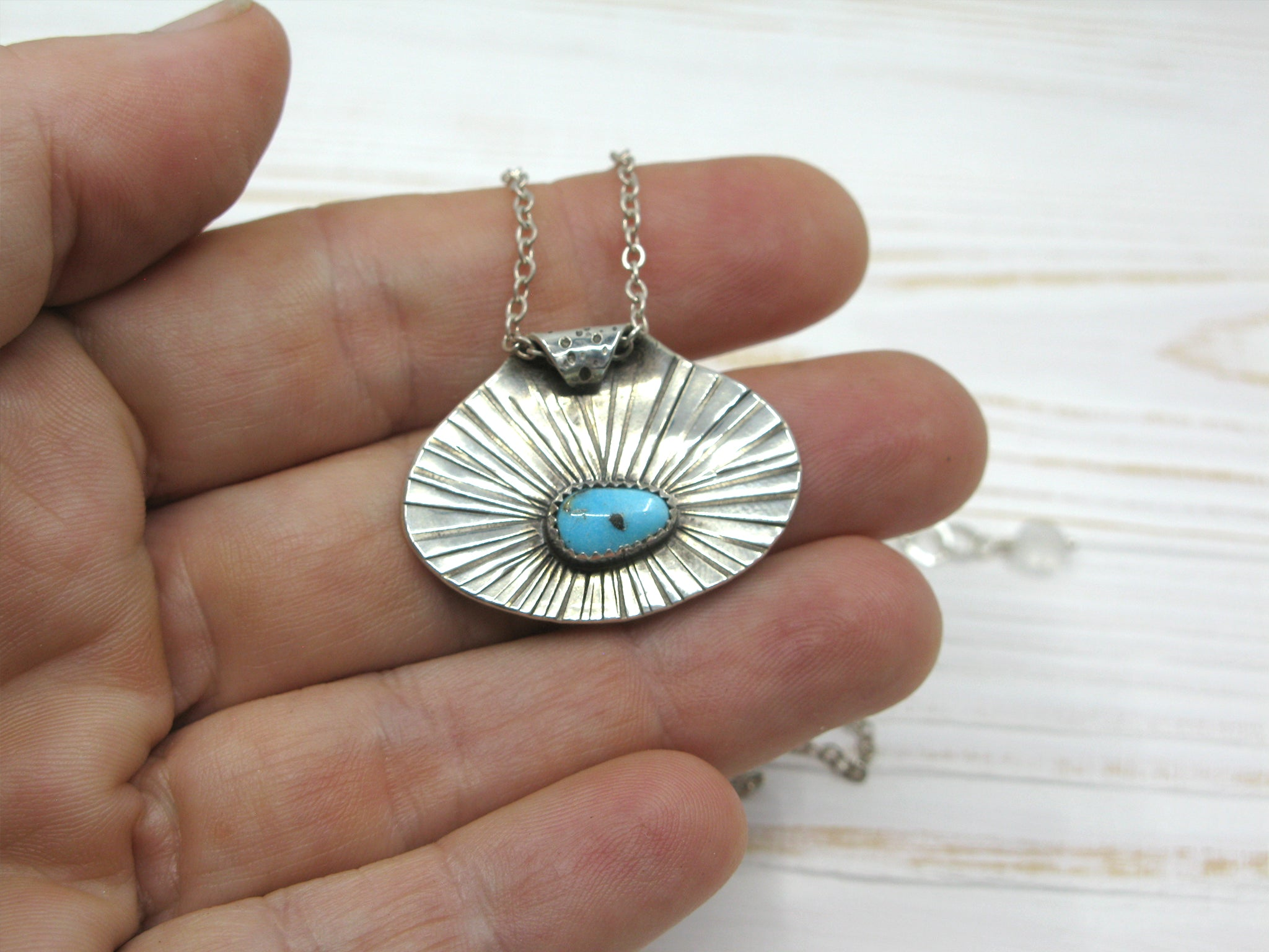 Turquoise A-frame Pendant