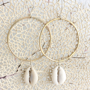 Cowry-Shell-Hoops-Brass-And-Sterling-Silver-Close-Up