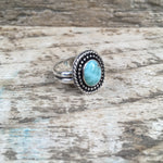Larimar Shield Ring