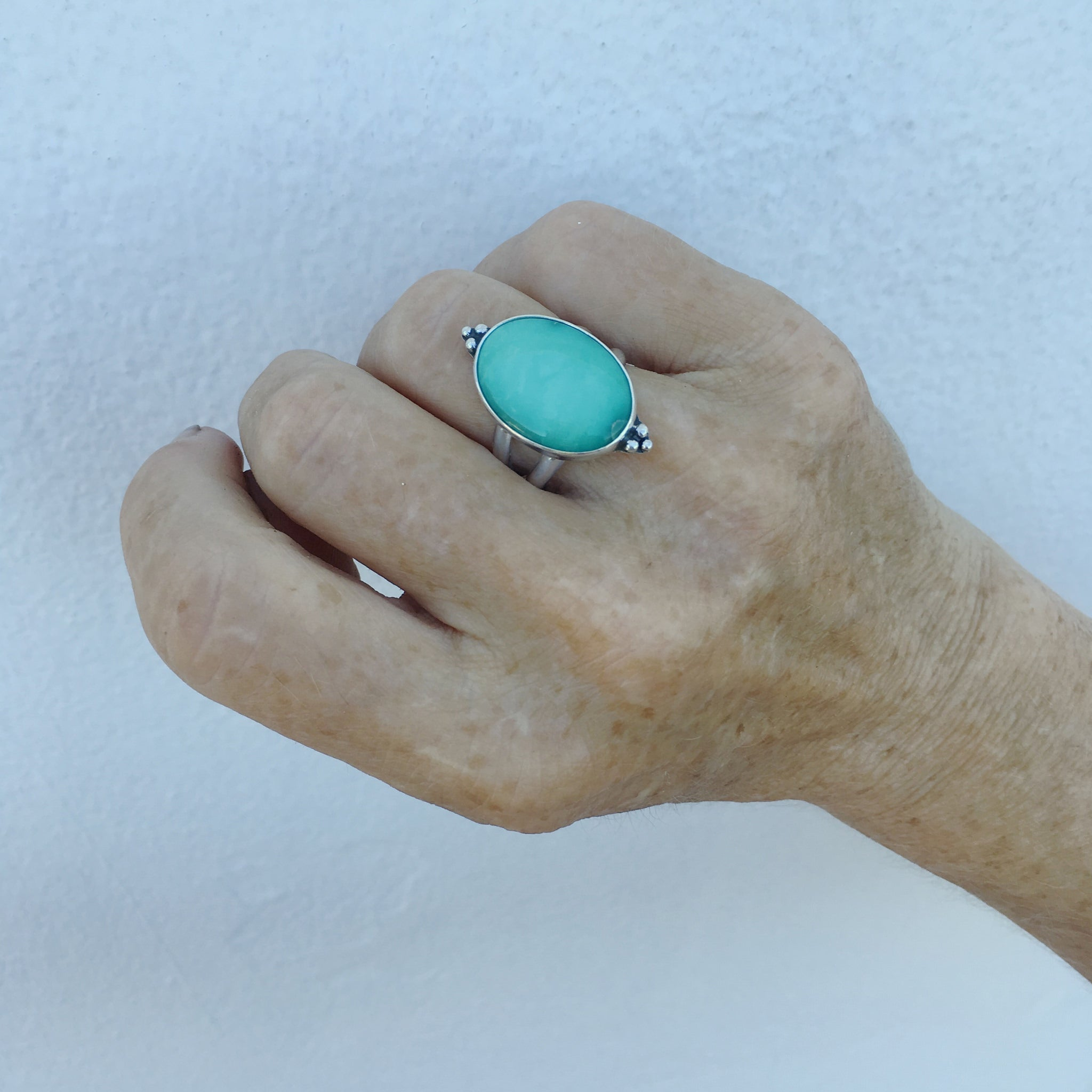 Handcrafted-Australian-Variscite-Ring-Shown-on-Hand