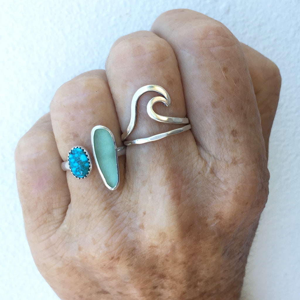 Handcrafted-Kingman-Turquoise-and-Seafoam-Seaglass-Ring-by-SpecialJCreations