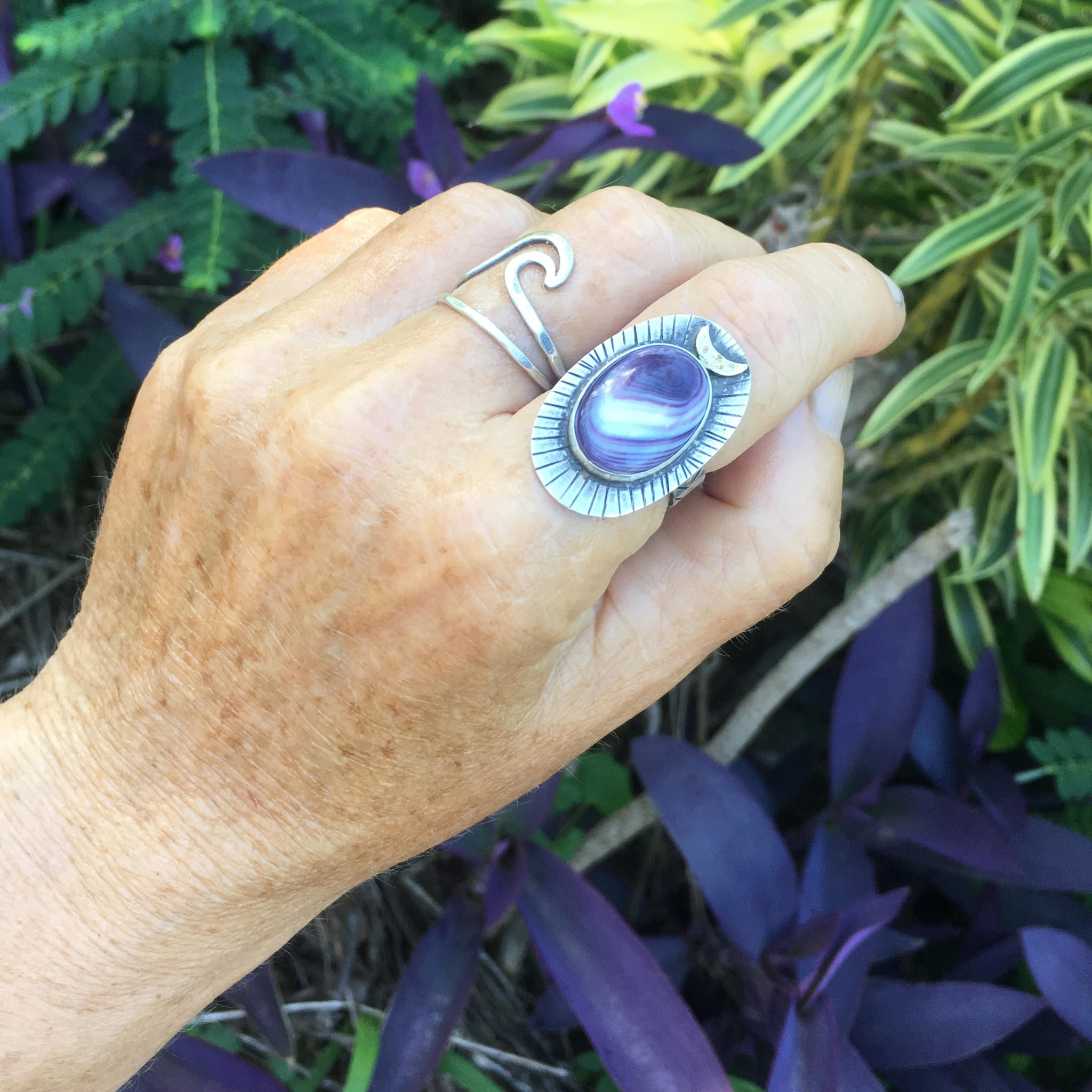 Handcrafted-Moontide-Wampum-Shown-on-Hand-by-SpecialJCreations