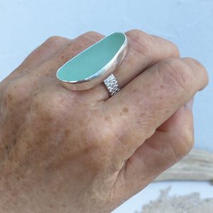 Handcrafted-Rare-Seafoam-Seaglass-and-Sterling-Silver-Statement-Ring-by-SpecialJCreations