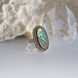 Multi-Colored-Abalone-Shell-Ring-Handcrafted-by-SpecialJCreations