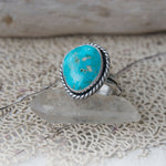 Rare Natural Kingman Turquoise Ring