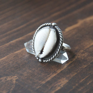 Nautical-Sterling-Silver-Cowry-Shell-Ring-with-Crystal