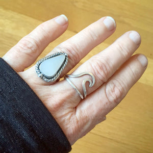 Genuine White Sea Glass Ring