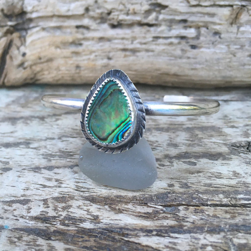 Step Into Liquid Abalone Cuff in Sterling Silver