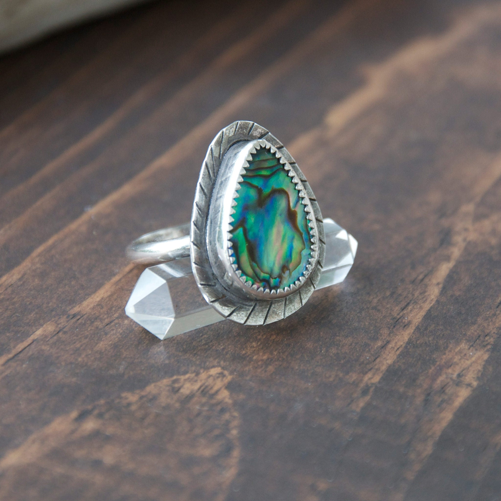 Step-Into-Liquid-Abalone-Shell-and-Sterling-Silver-Ring-Different-Angle
