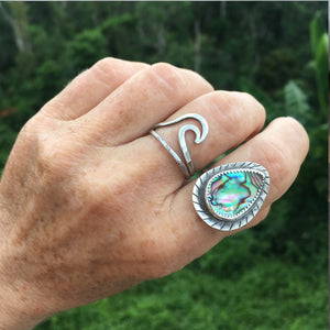 Step-Into-Liquid-Abalone-Shell-and-Sterling-Silver-Ring-On-Hand