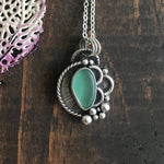 Ebb & Flow Light Teal/Deep Seafoam Sea Glass Pendant