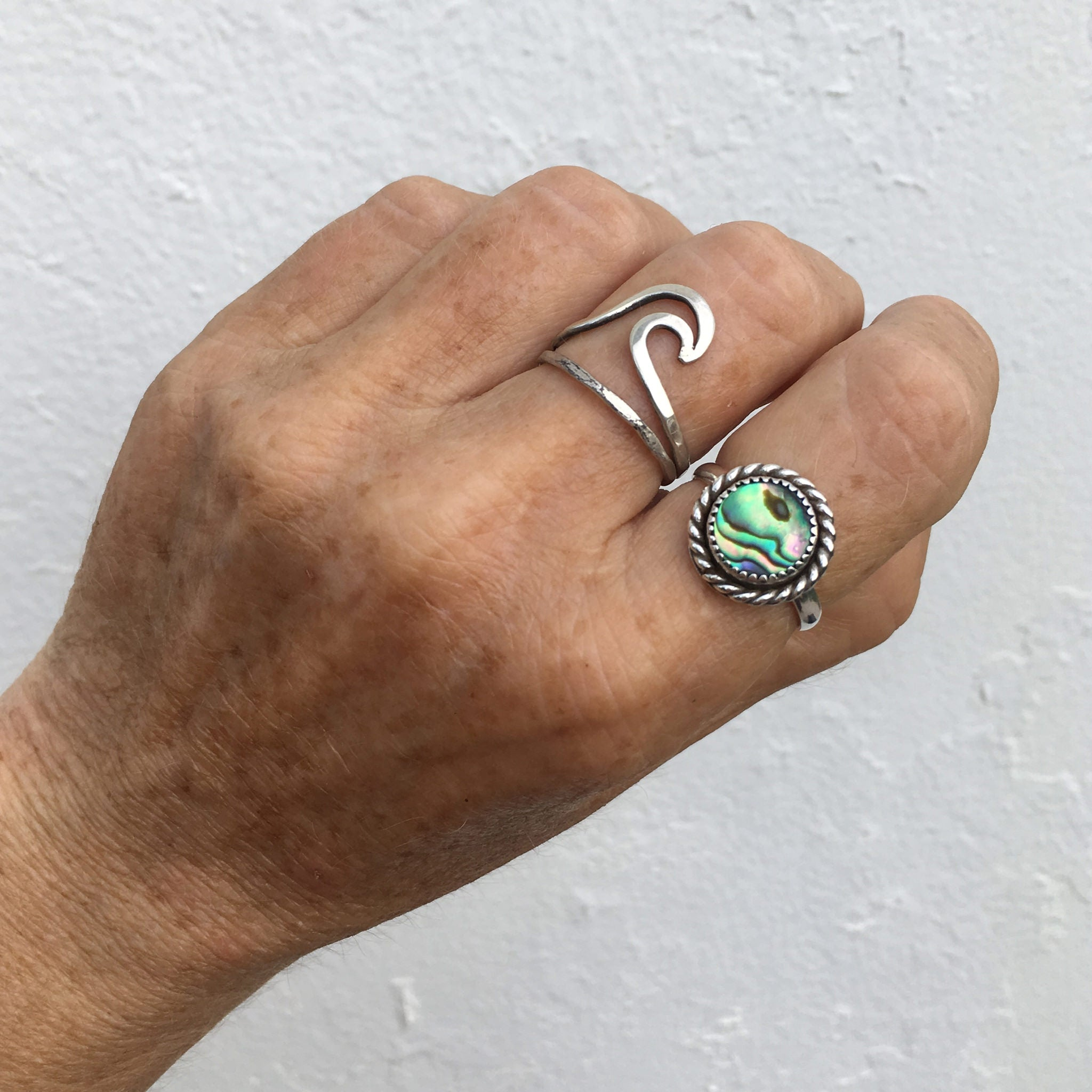 The-Dawntreader-Abalone-Shell-Ring-On-Hand-SpecialJCreations