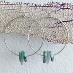 Tranquila-Hoop-Earrings-Sterling-Silver-Larimar-Sea-Glass