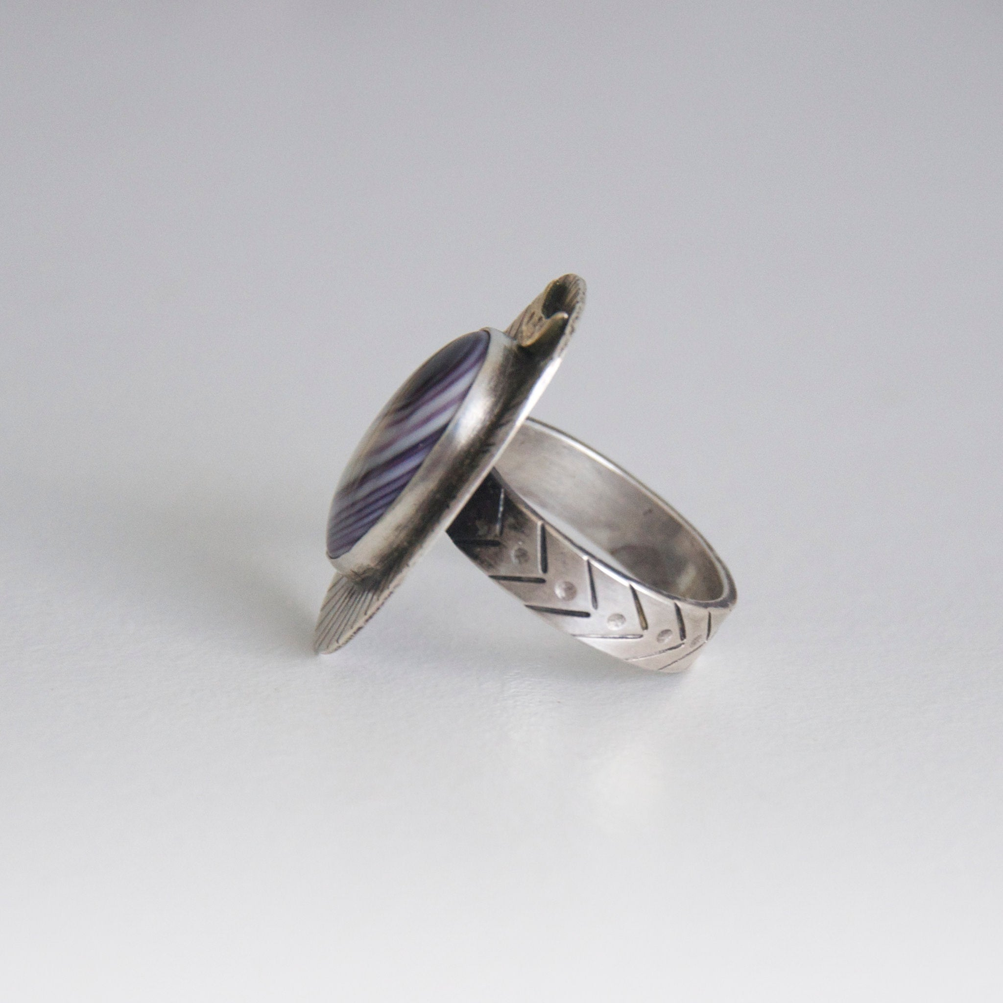 Moontide Ring with Wampum Size 8