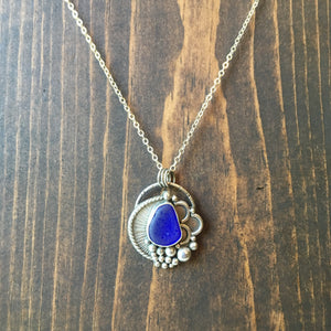 Ebb & Flow Rare Cobalt Blue Sea Glass Pendant
