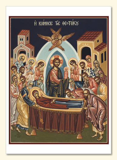 Dormition of the Theotokos Card